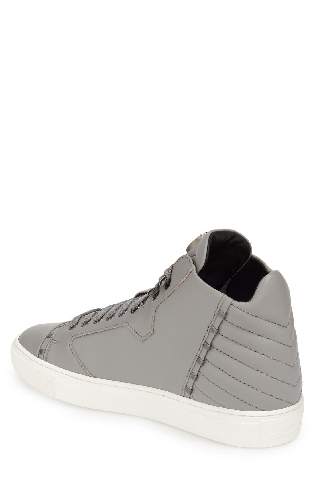 Alternate Image 2  - Versace Collection Leather High Top Sneaker (Men)