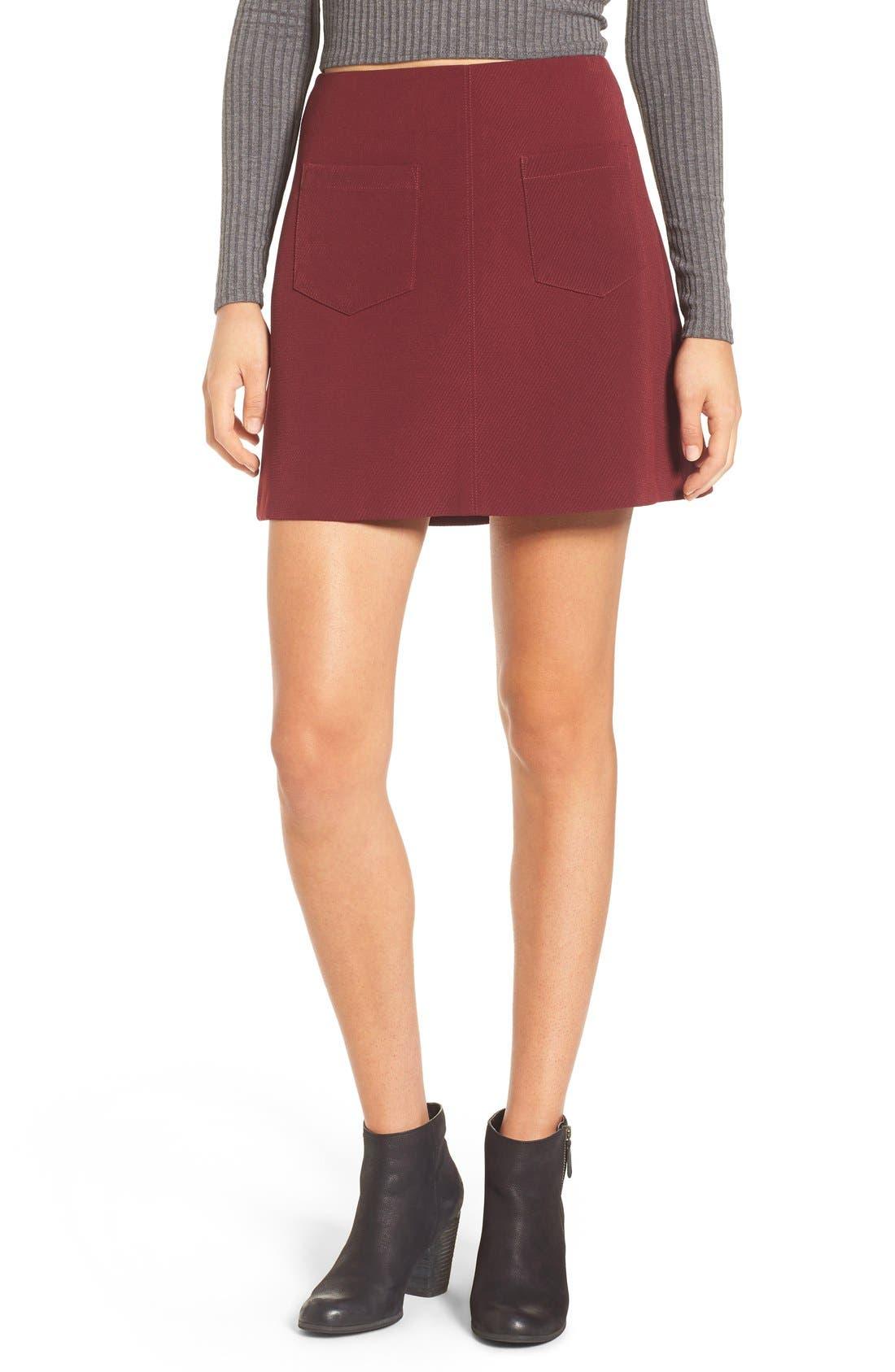 Main Image - Lush A-Line Miniskirt