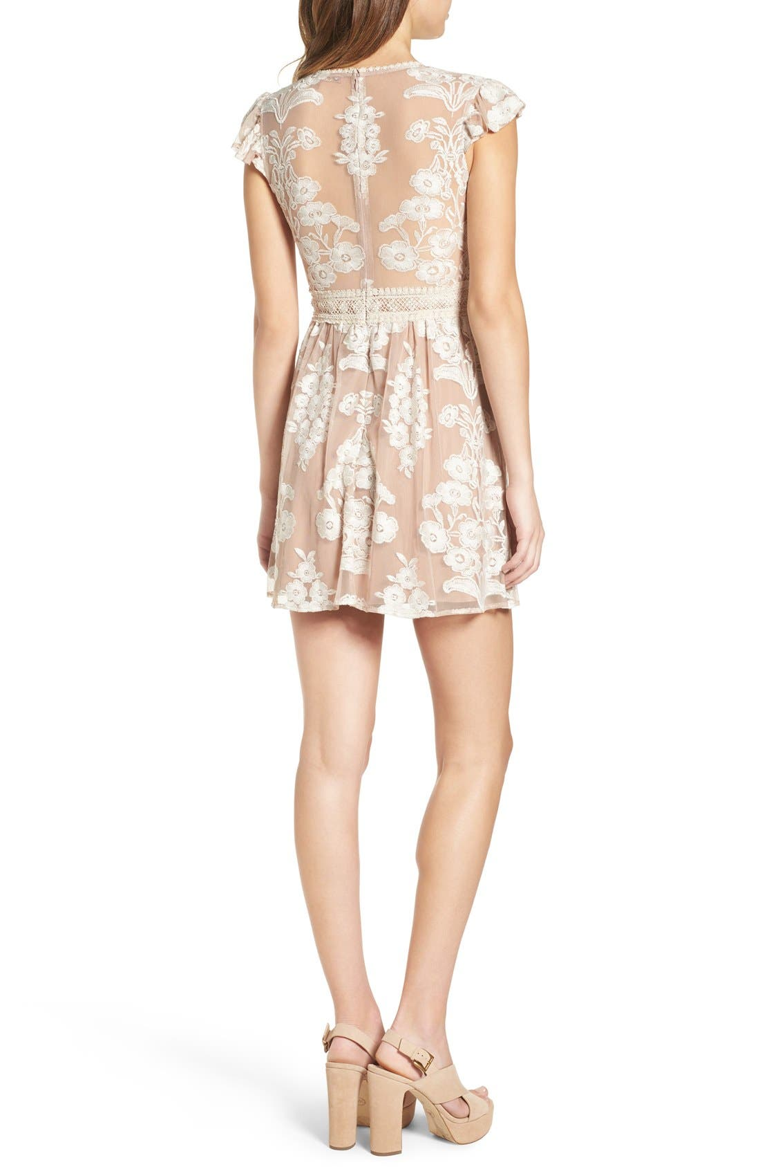 Alternate Image 3  - For Love & Lemons x Nordstrom 'Salud' Embroidered Mesh Minidress (Nordstrom Exclusive)