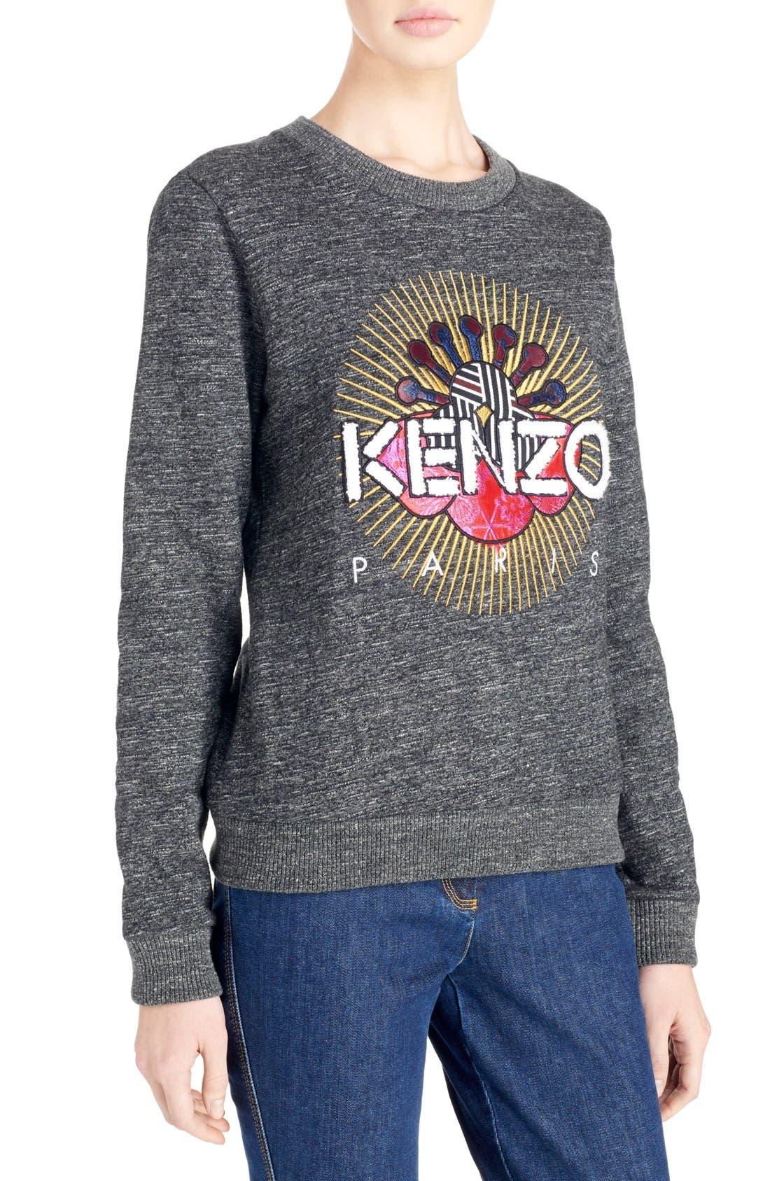 Alternate Image 4  - KENZO Graphic Molleton Sweatshirt