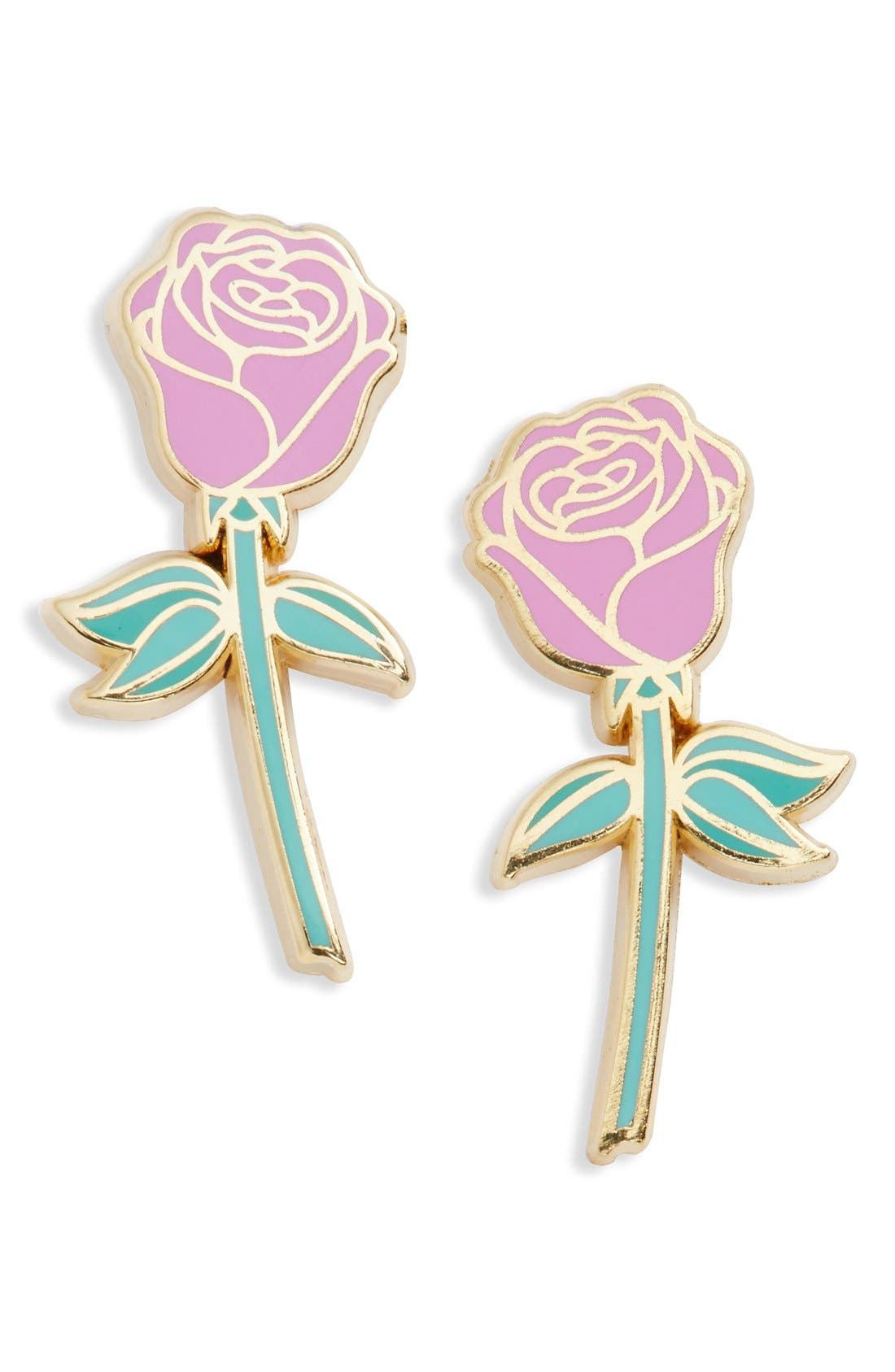 Main Image - Big Bud Press 'Pink Rose' Pins (Set of 2)