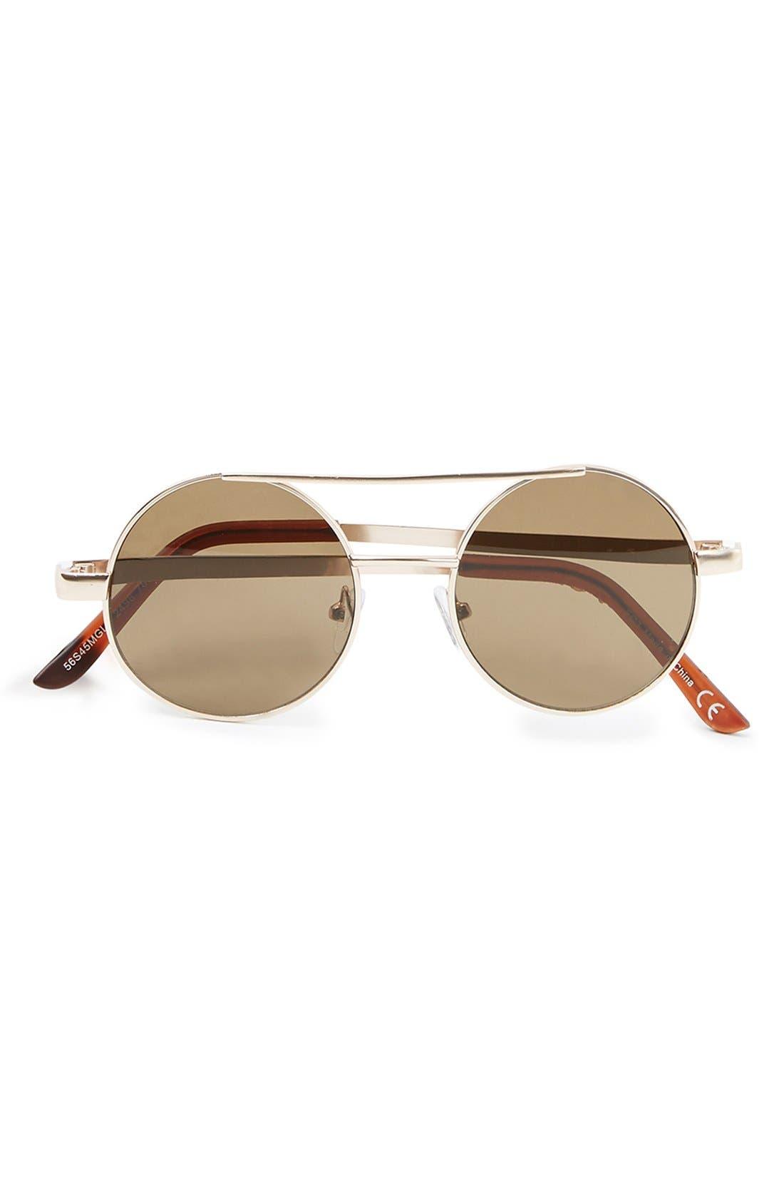 Main Image - Topman 49mm Round Metal Sunglasses