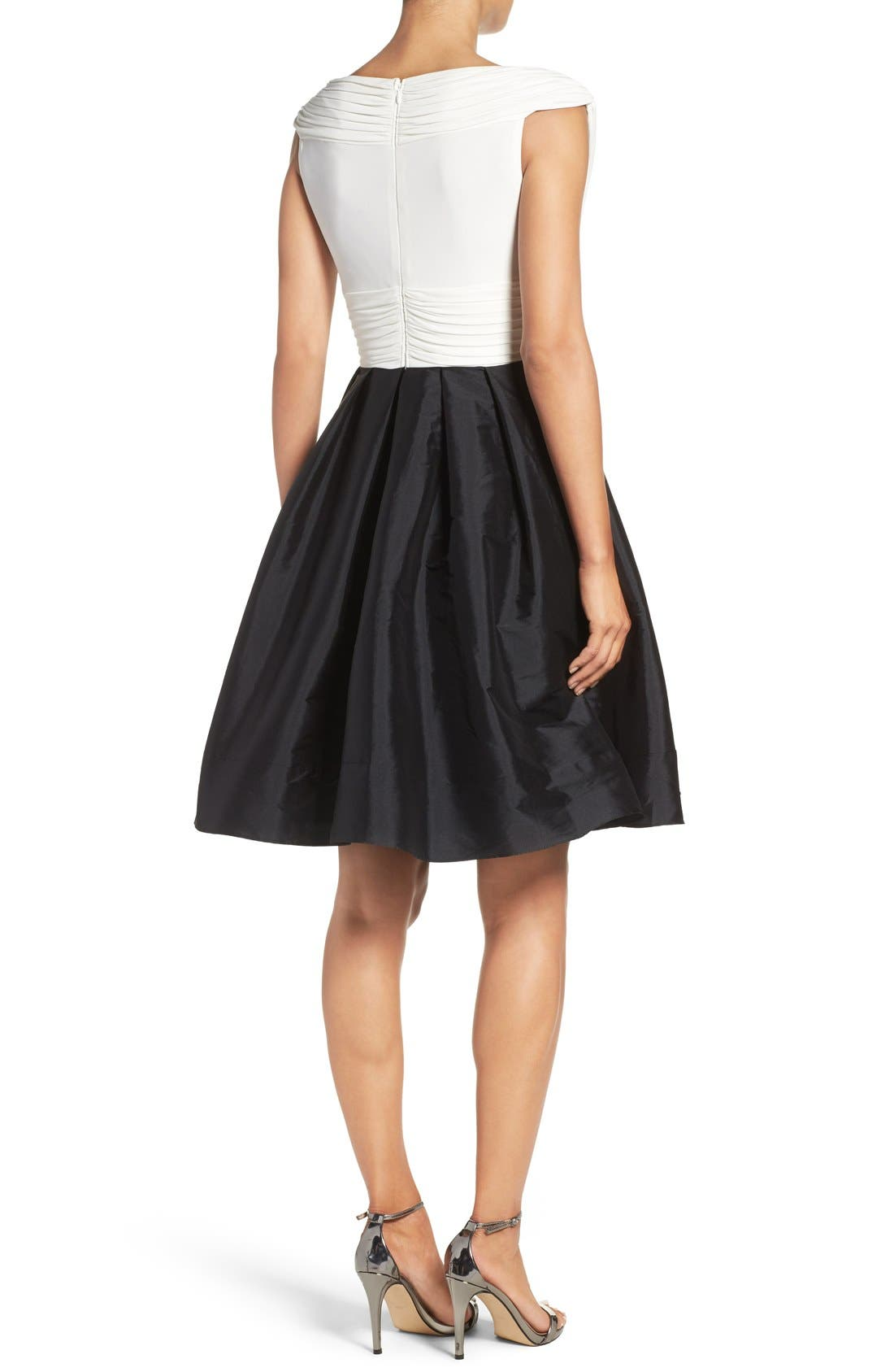 Alternate Image 2  - Adrianna Papell Taffeta Fit & Flare Dress (Regular & Petite)