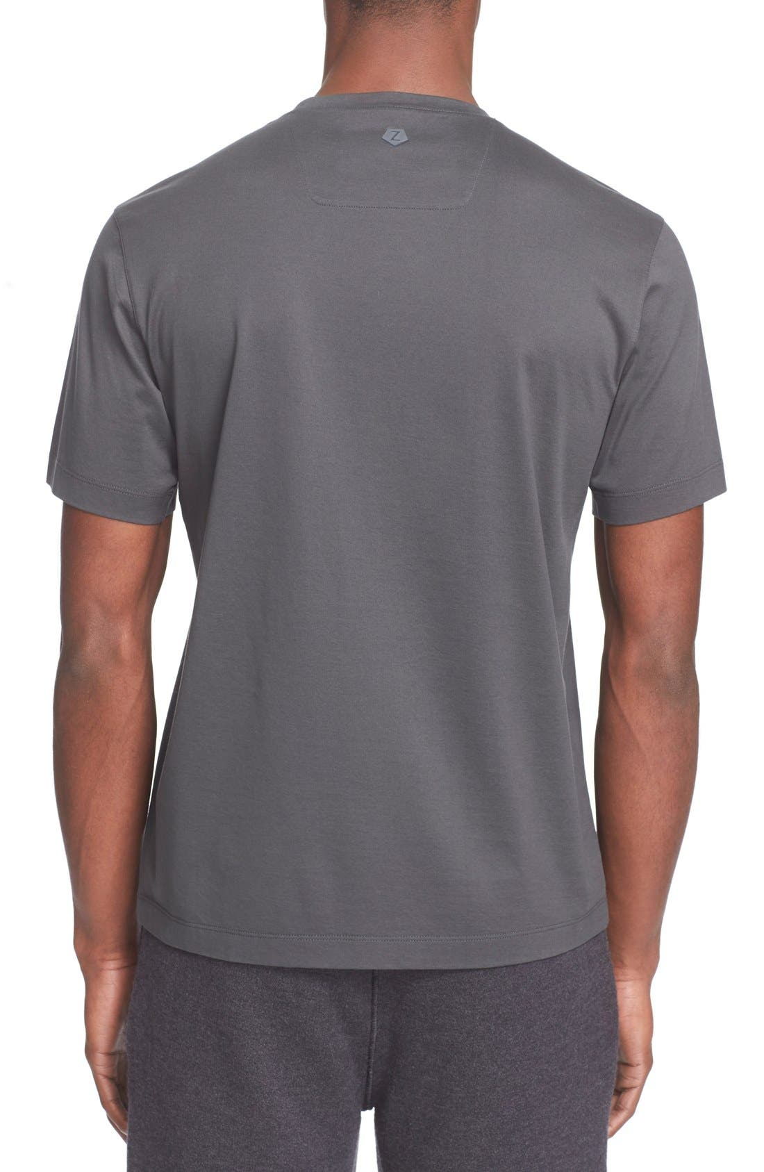 Alternate Image 2  - Z Zegna Flocked Graphic T-Shirt