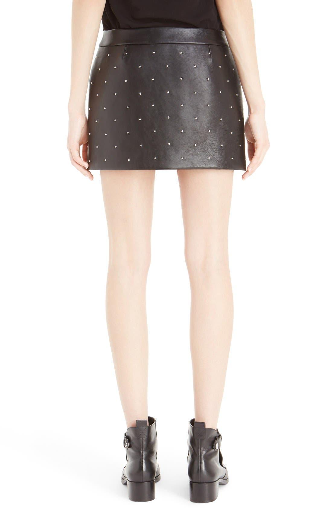 Alternate Image 2  - Anthony Vaccarello Fire Bicolore Leather Miniskirt