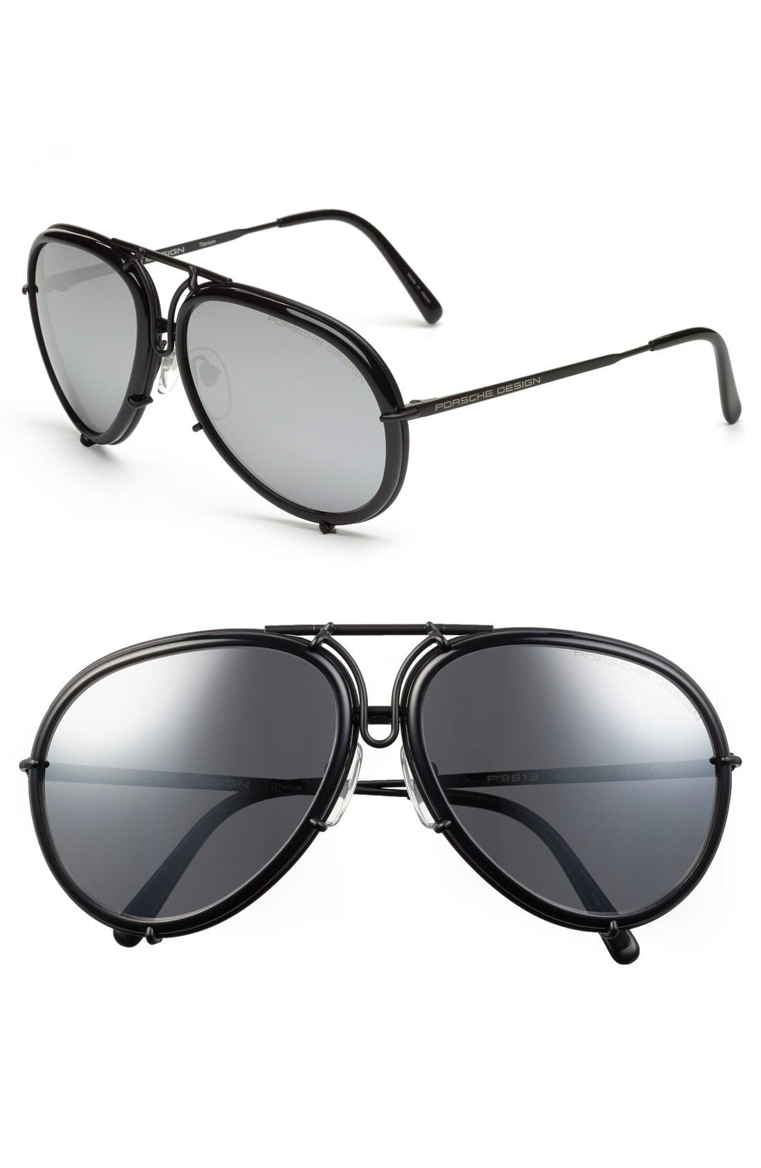 PORSCHE DESIGN 'P8613' 61mm Retro Sunglasses
