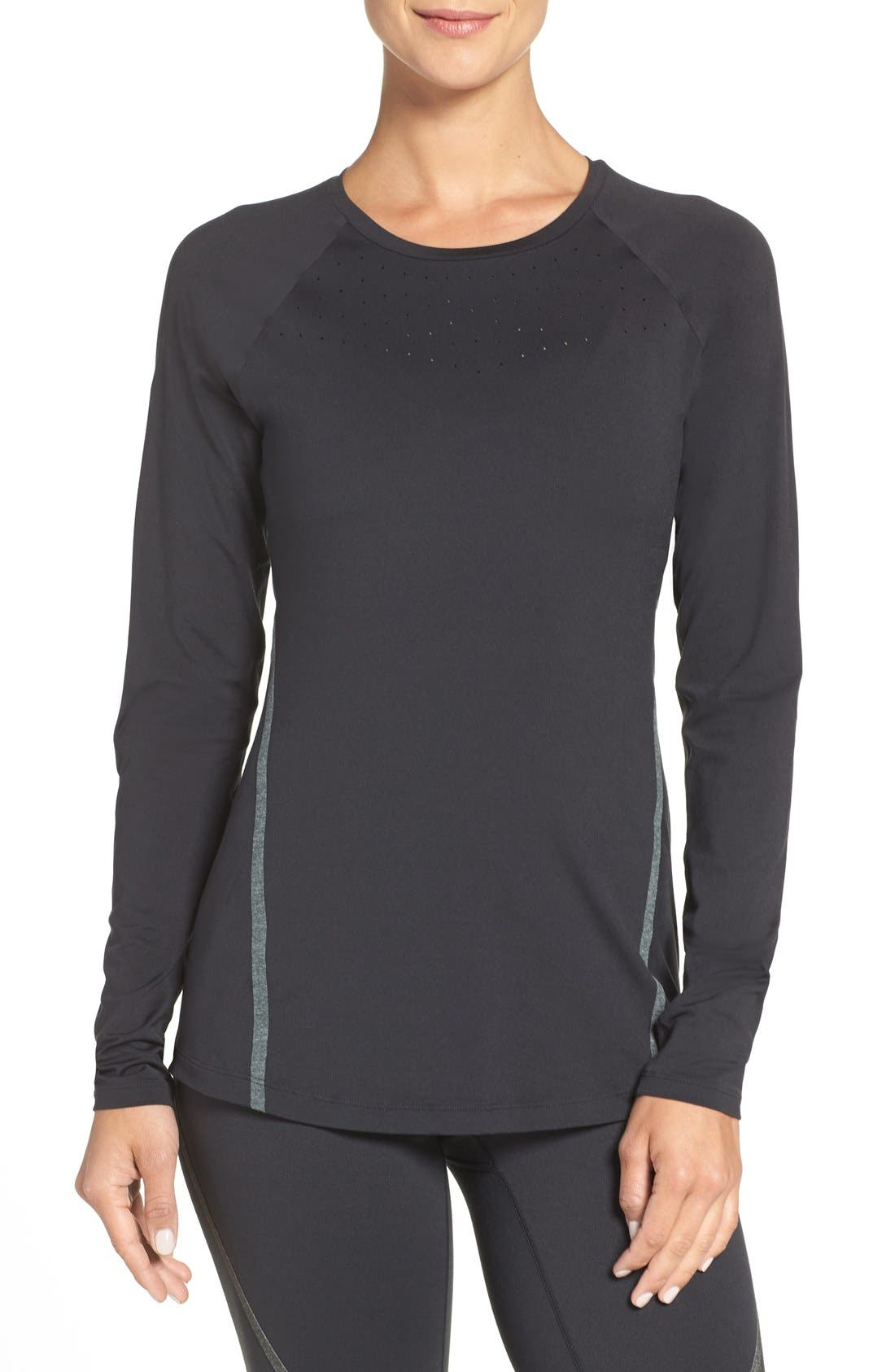New Balance Perforated Long Sleeve Top