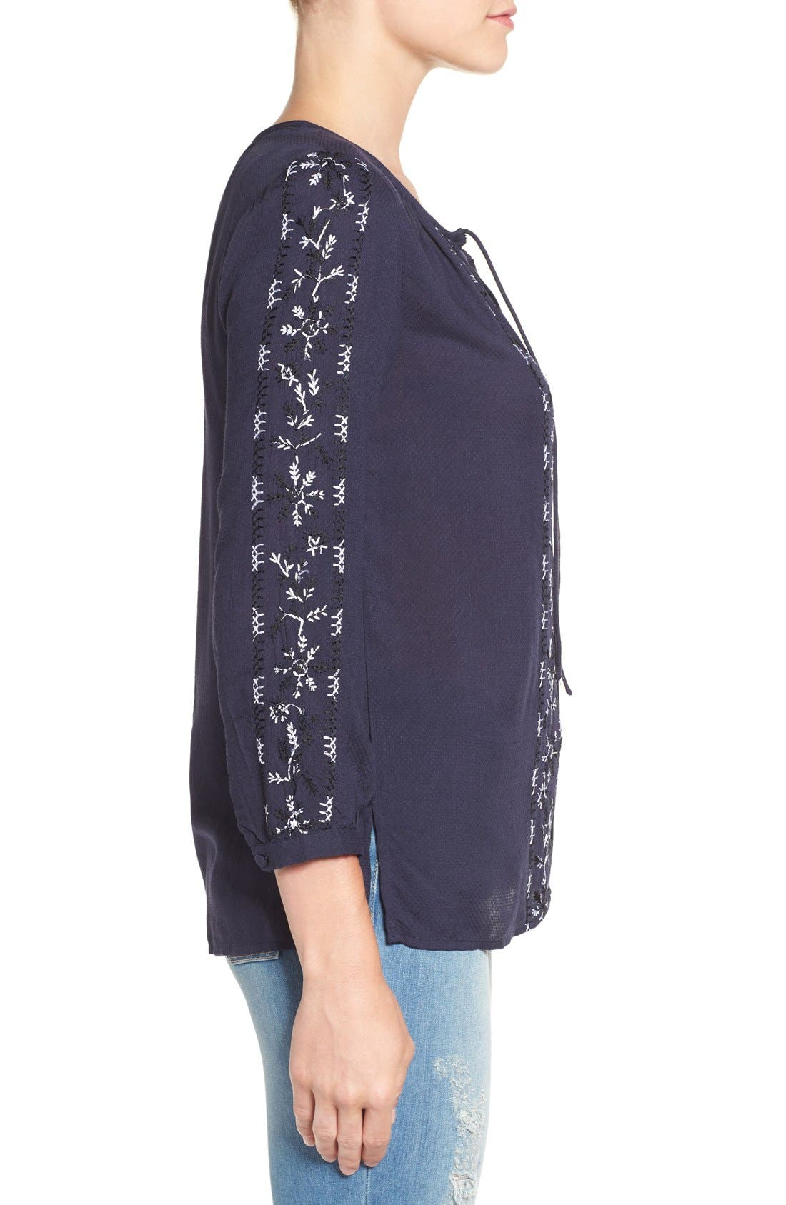 Alternate Image 3  - Lucky Brand Embroidered Peasant Blouse