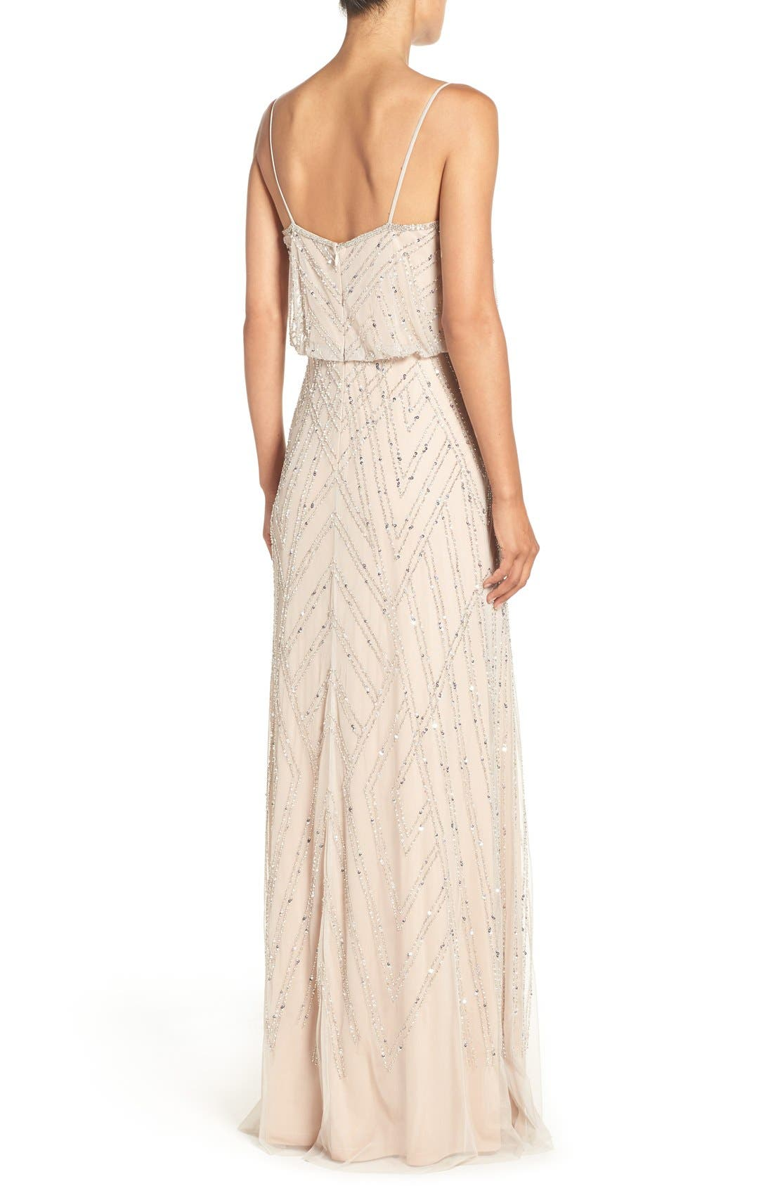 Alternate Image 2  - Adrianna Papell Embellished Blouson Gown