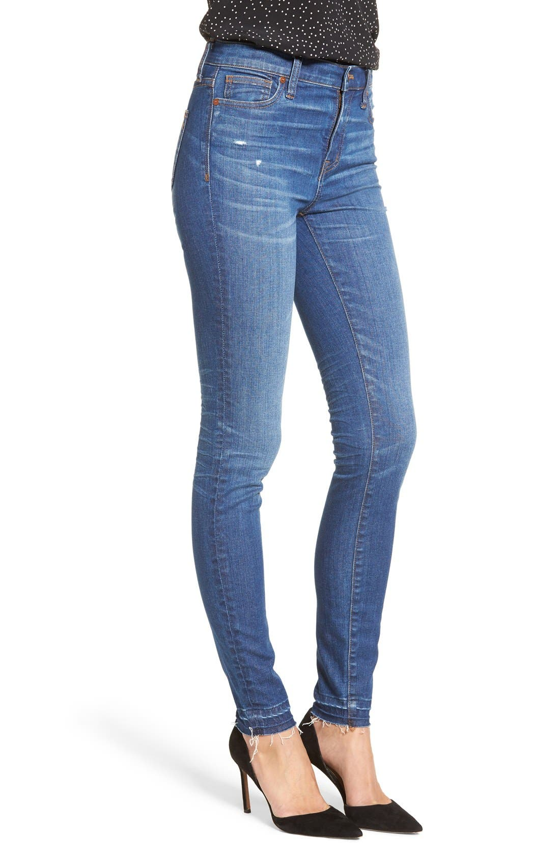 Alternate Image 3  - Madewell High Rise Skinny Jeans (Hammond Wash)