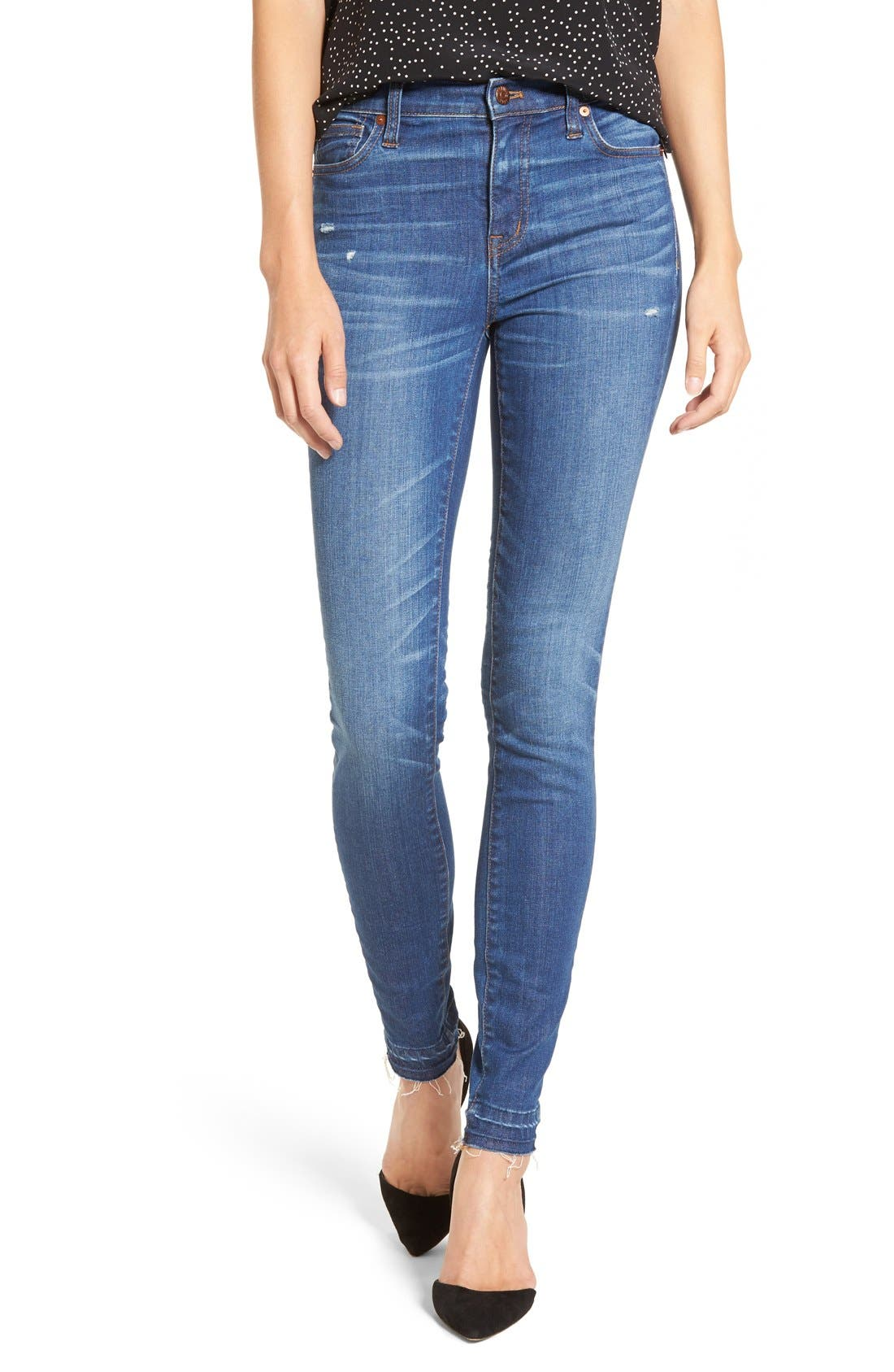 Main Image - Madewell High Rise Skinny Jeans (Hammond Wash)