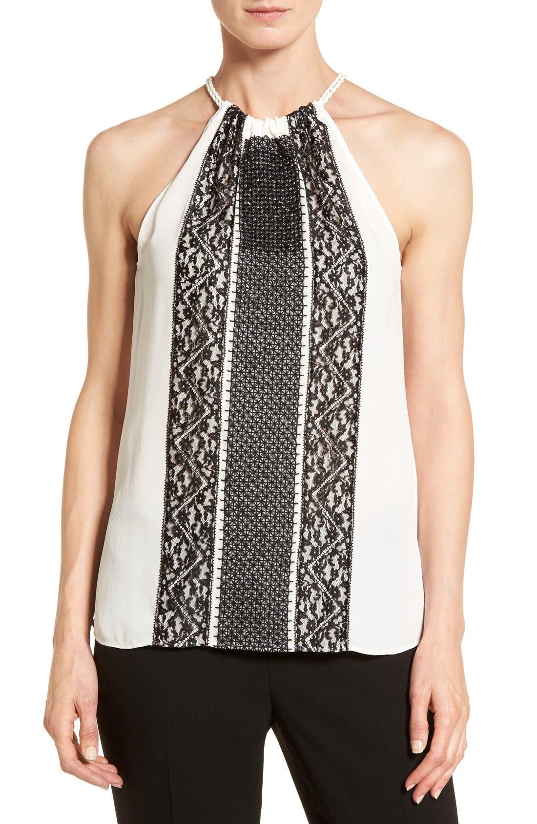 Alternate Image 1 Selected - Kobi Halperin 'Jolie' Embellished Silk Halter Blouse