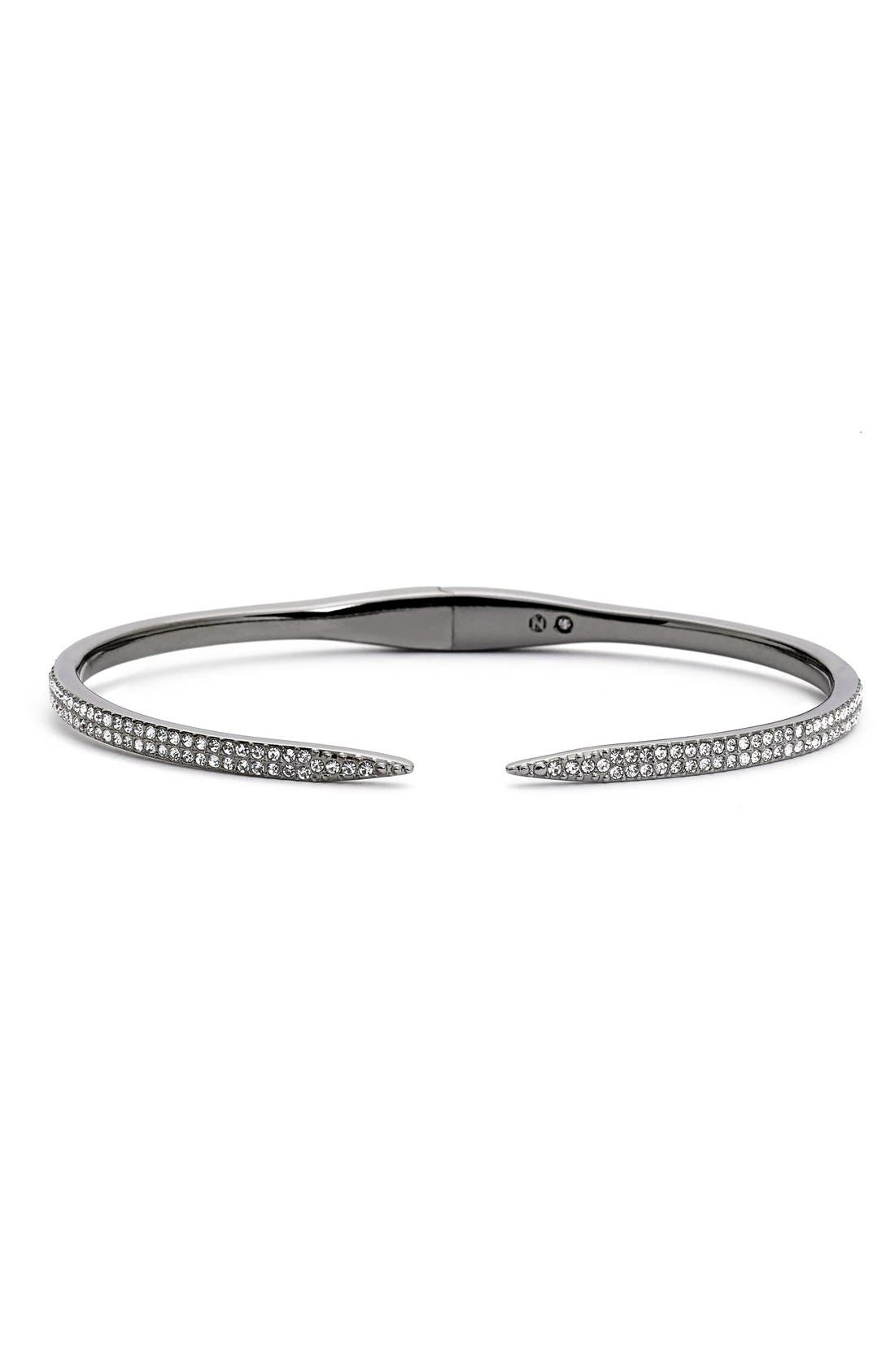 Nadri 'Tattoo' Pavé Hinge Bangle