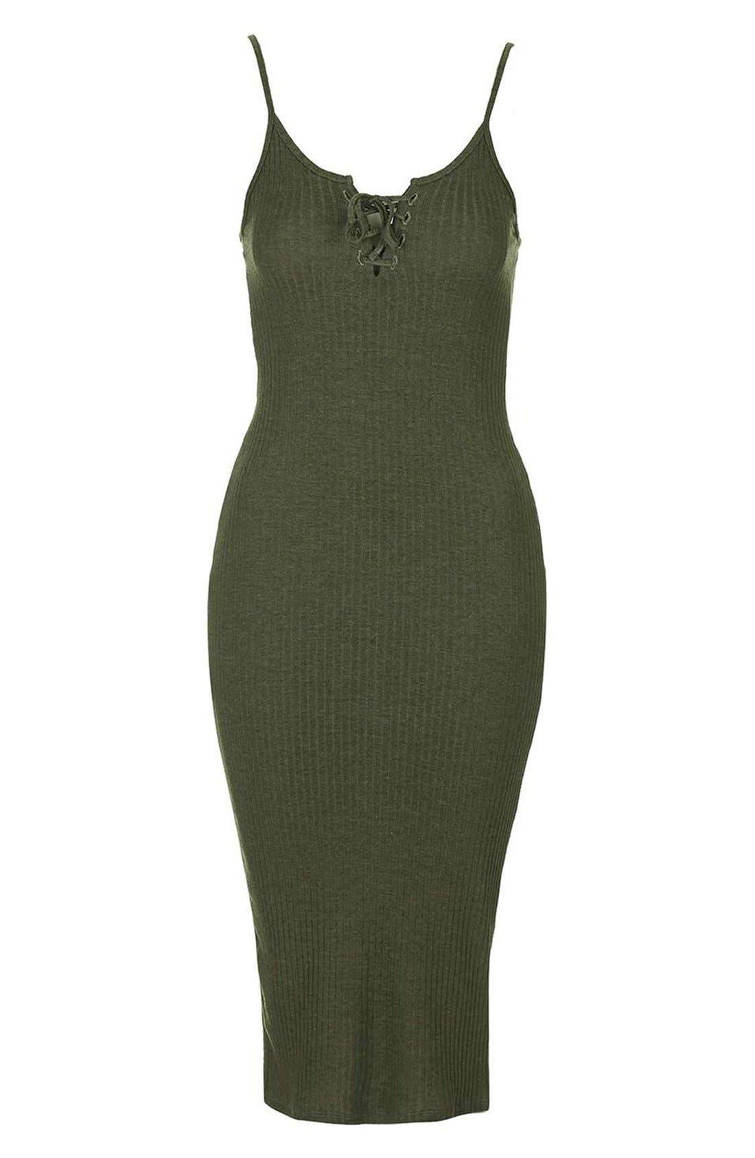 Alternate Image 3  - Topshop Ribbed Body-Con Midi Dress