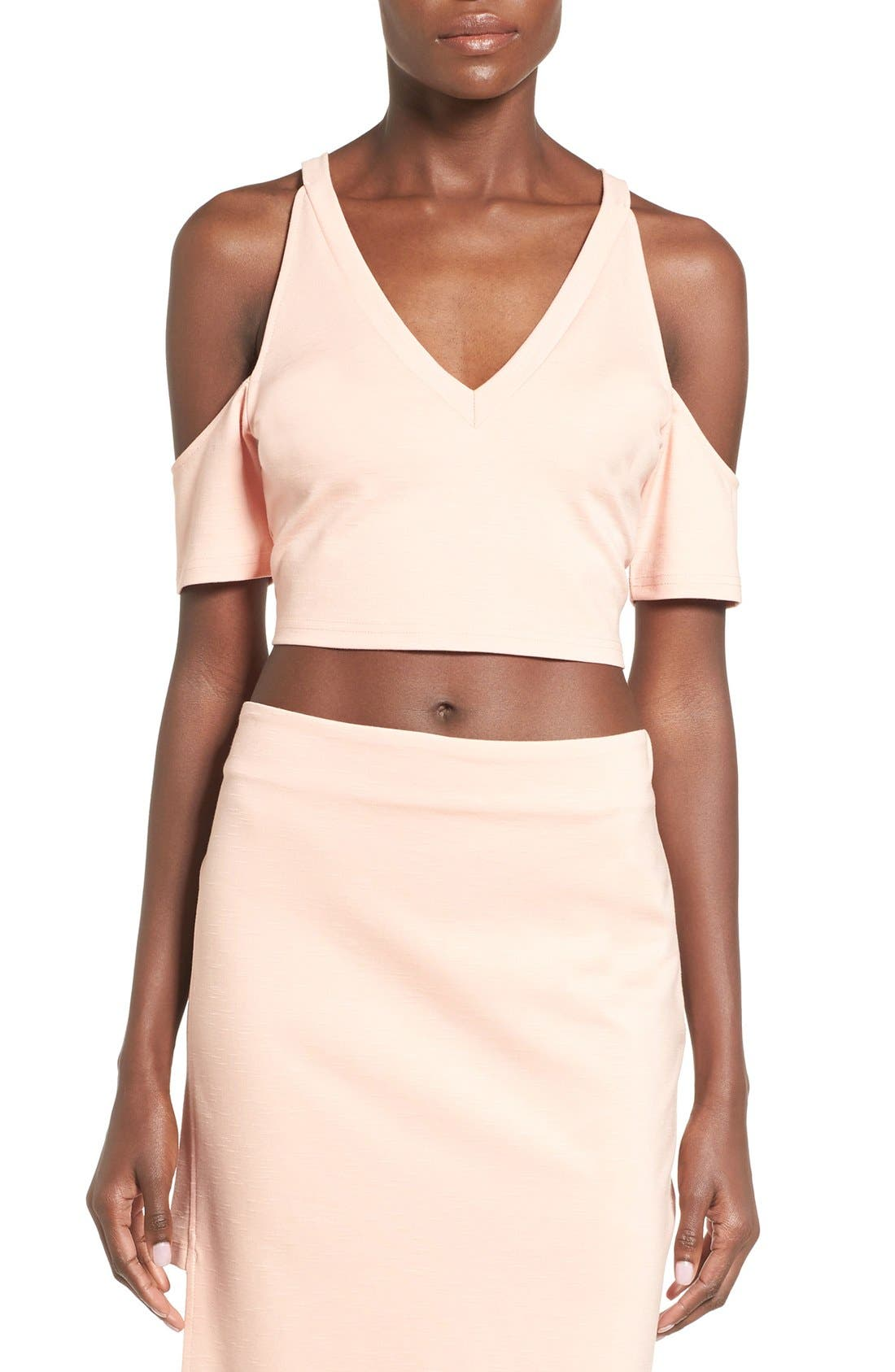 Main Image - MINKPINK 'Moon Child' Cutout Sleeve Crop Top