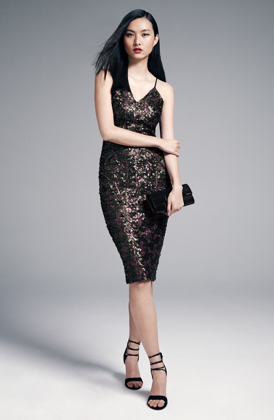 Alternate Image 2  - Dress the Population 'Nina' Sequin Midi Dress