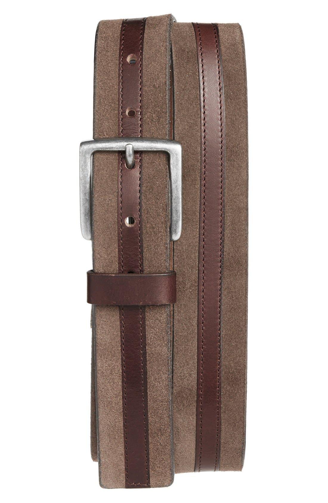 trafalgar suede leather belt nordstrom