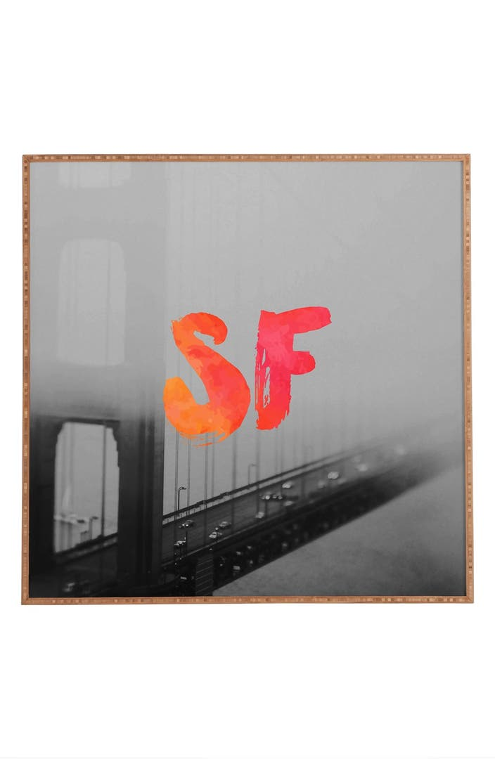 Deny designs 39 golden gate noir 39 framed wall art nordstrom for Deny designs free shipping code