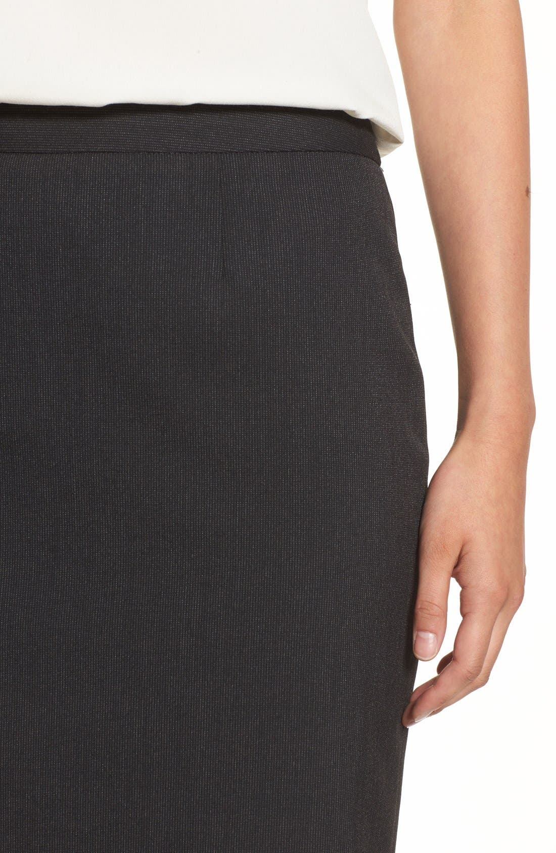Alternate Image 4  - Halogen® Mini Stripe Stretch Suit Skirt (Regular & Petite)