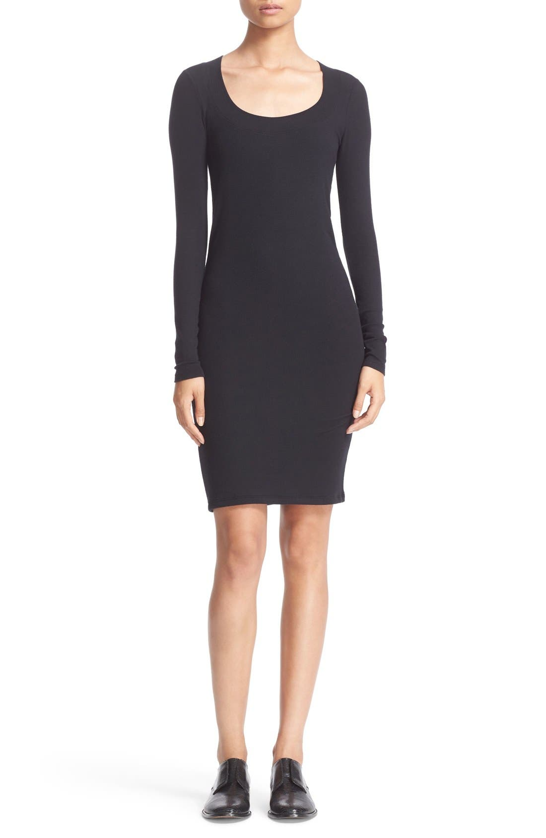 Alternate Image 1 Selected - ATM Anthony Thomas Melillo Scoop Neck Rib Jersey Dress