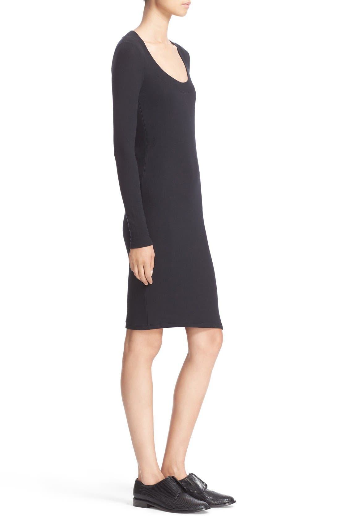 Alternate Image 3  - ATM Anthony Thomas Melillo Scoop Neck Rib Jersey Dress