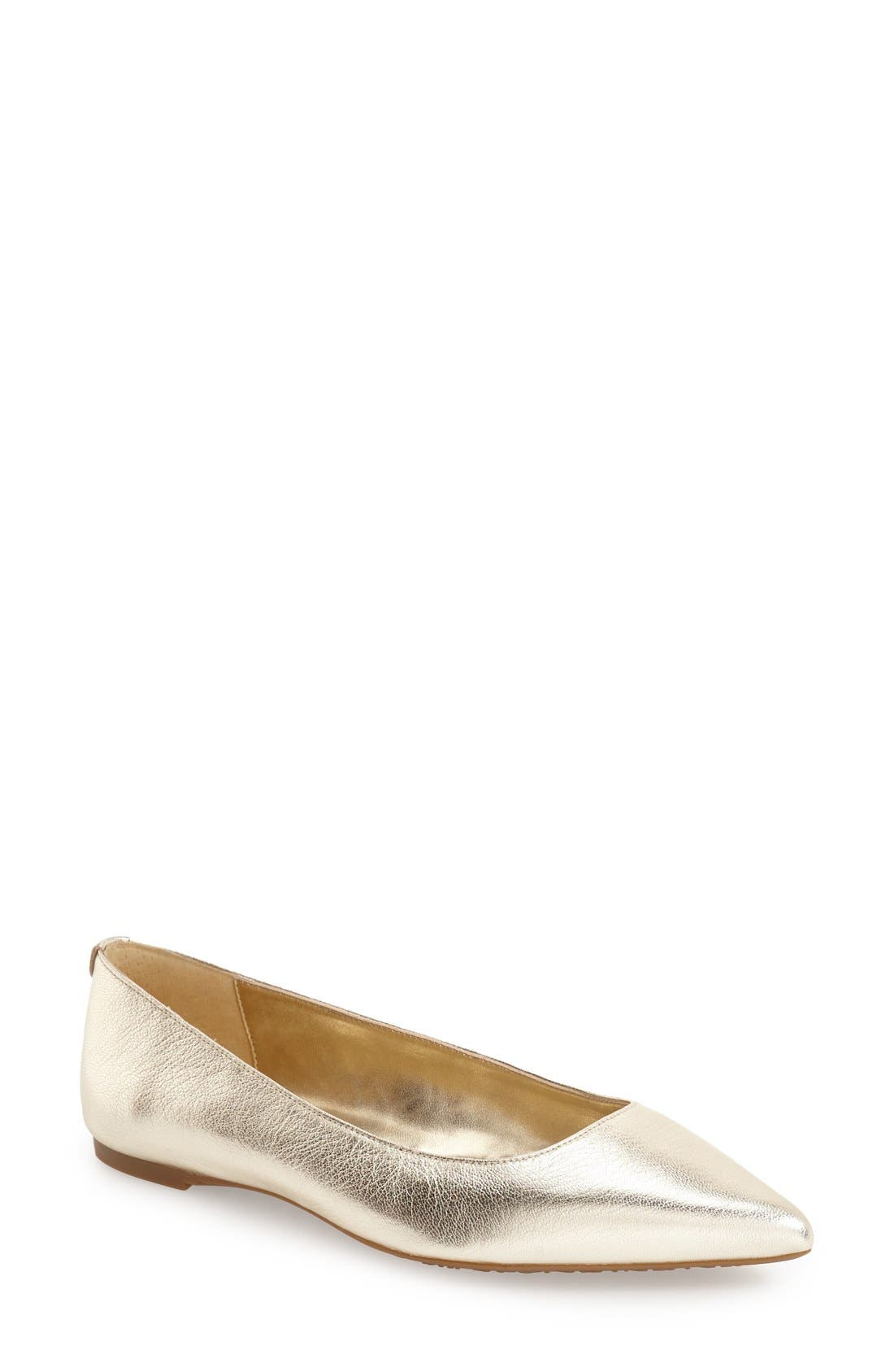 Alternate Image 1 Selected - MICHAEL MIchael Kors 'Arianna' Pointy Toe Flat (Women)