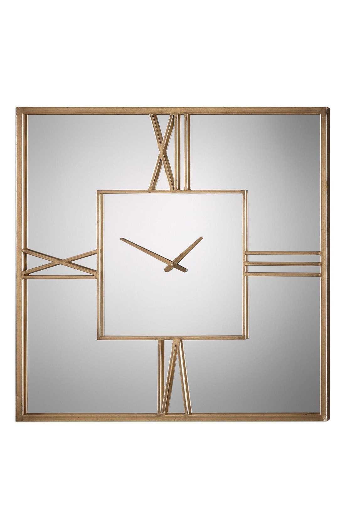 Uttermost Square Mirrored Wall Clock
