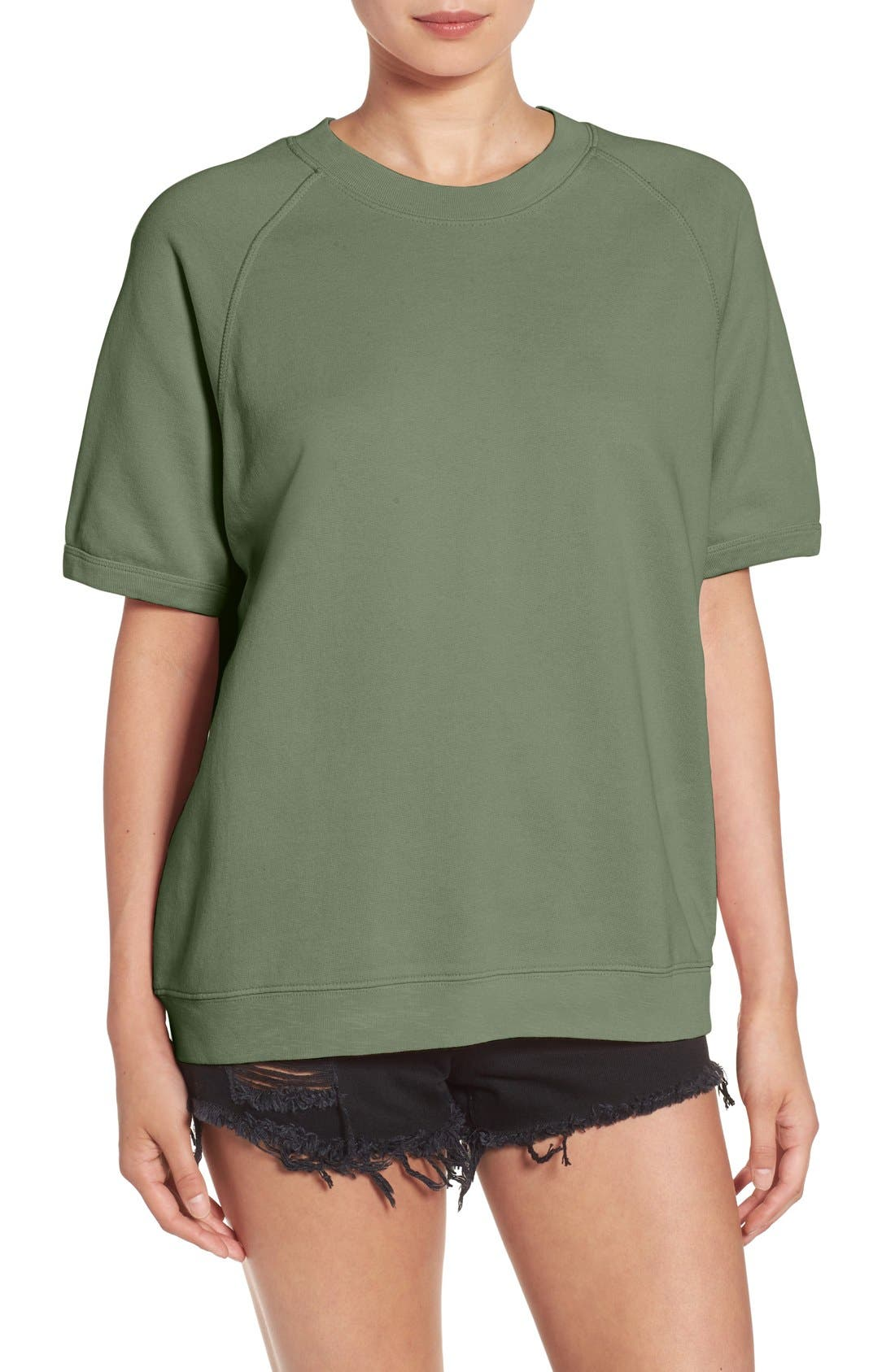 Alternate Image 1 Selected - Sincerely Jules 'Cara' Short Sleeve Sweatshirt