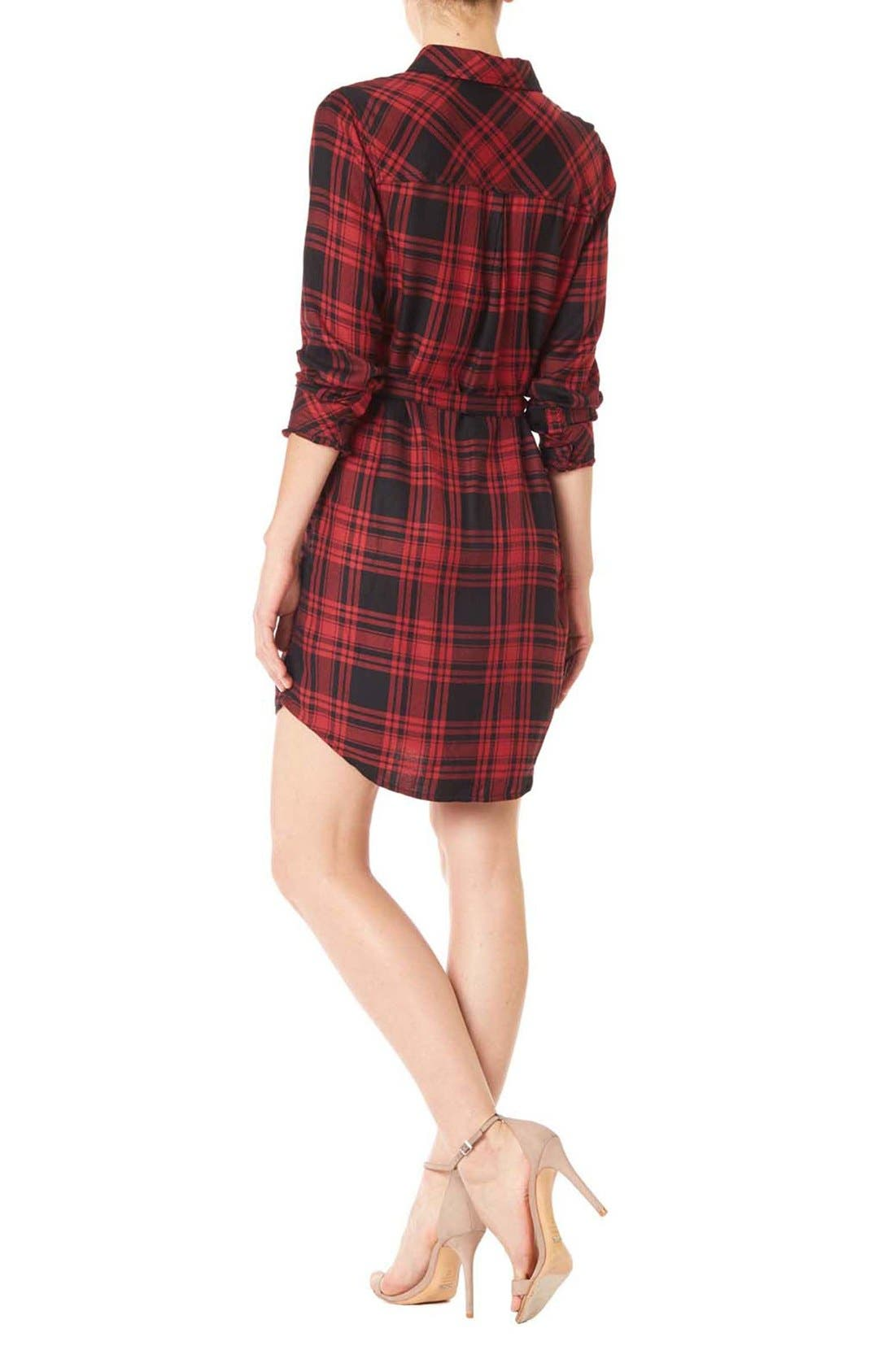 Alternate Image 2  - Sanctuary 'Jordane' Plaid Belted Shirtdress