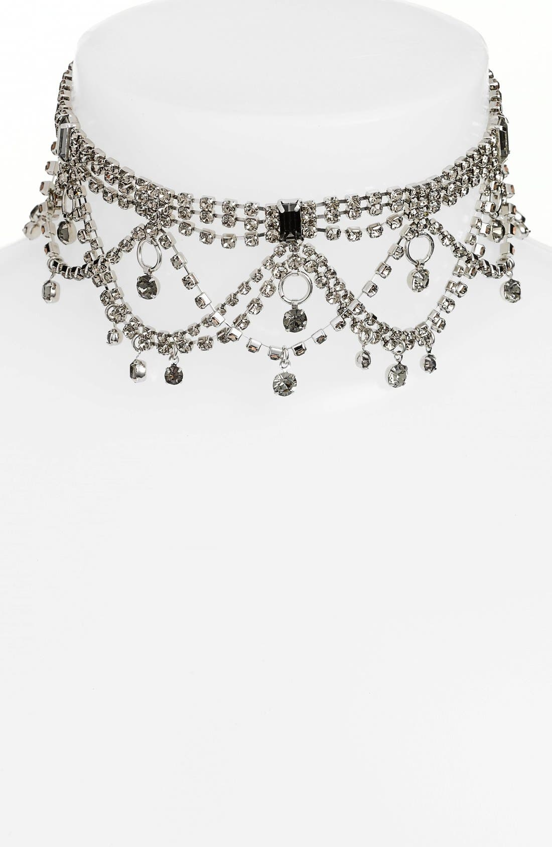 Alternate Image 1 Selected - Cristabelle Crystal Choker Necklace
