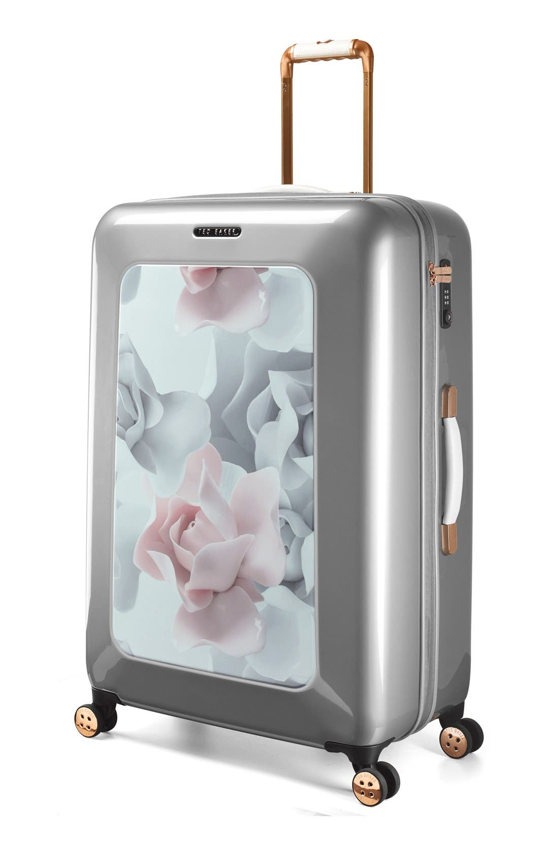Alternate Image 2  - Ted Baker London 'Large Porcelain Rose' Four Wheel Suitcase (31 Inch)