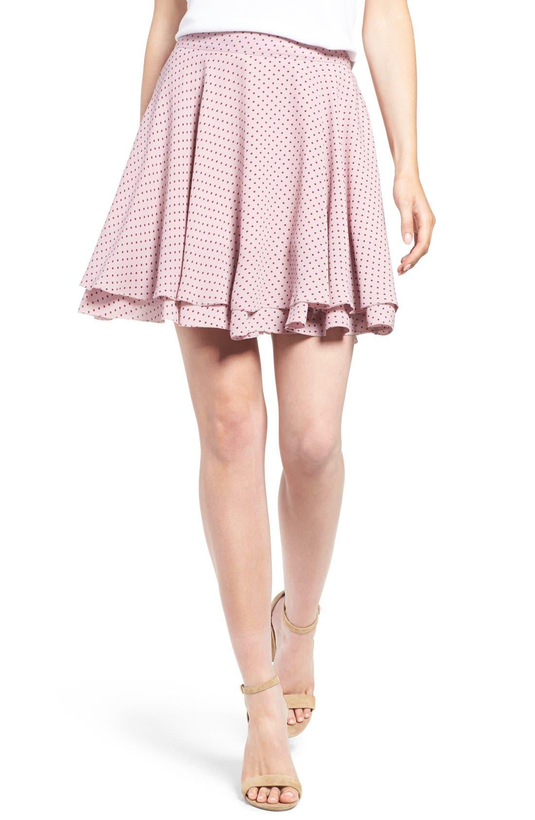 Alternate Image 1 Selected - Rebecca Minkoff 'Bellamar' Polka Dot Miniskirt
