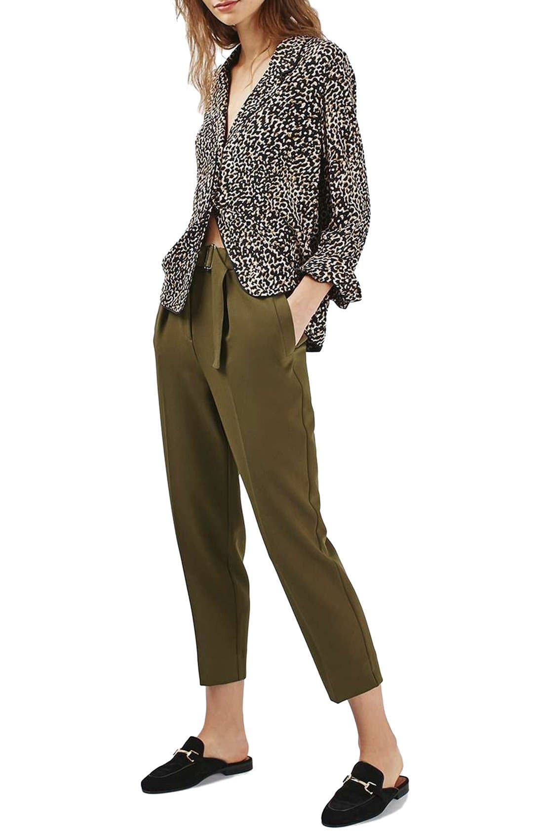 Alternate Image 2  - Topshop Slider Utility Peg Trousers (Regular & Petite)