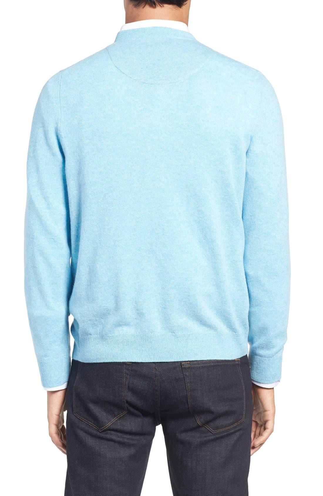 Alternate Image 2  - Nordstrom Men's Shop Cashmere V-Neck Sweater (Regular & Tall)