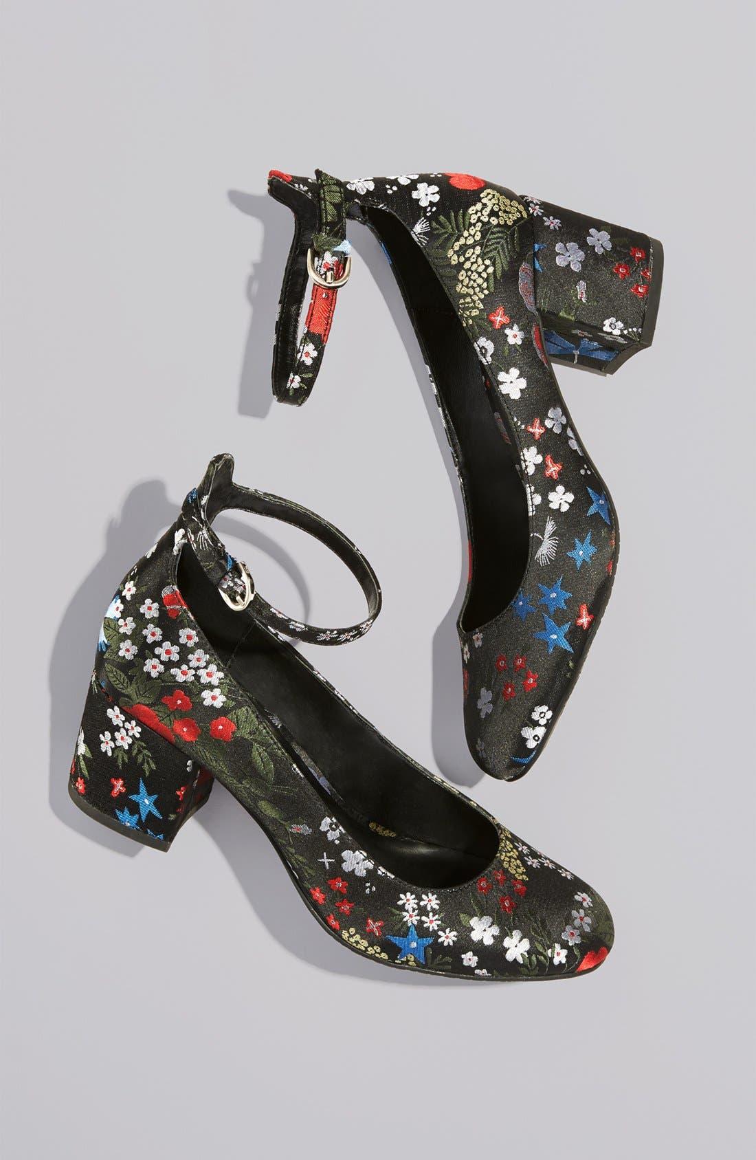 Alternate Image 4  - BP. Ankle Strap Block Heel Pump (Women)