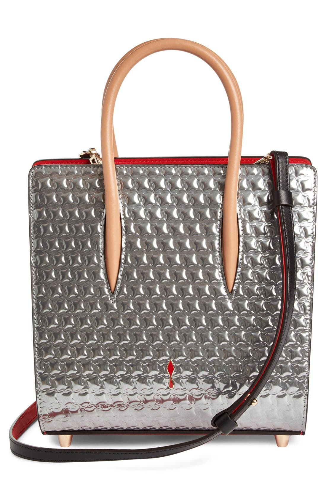 Alternate Image 3  - Christian Louboutin Small Paloma Embellished Genuine Snakeskin Tote