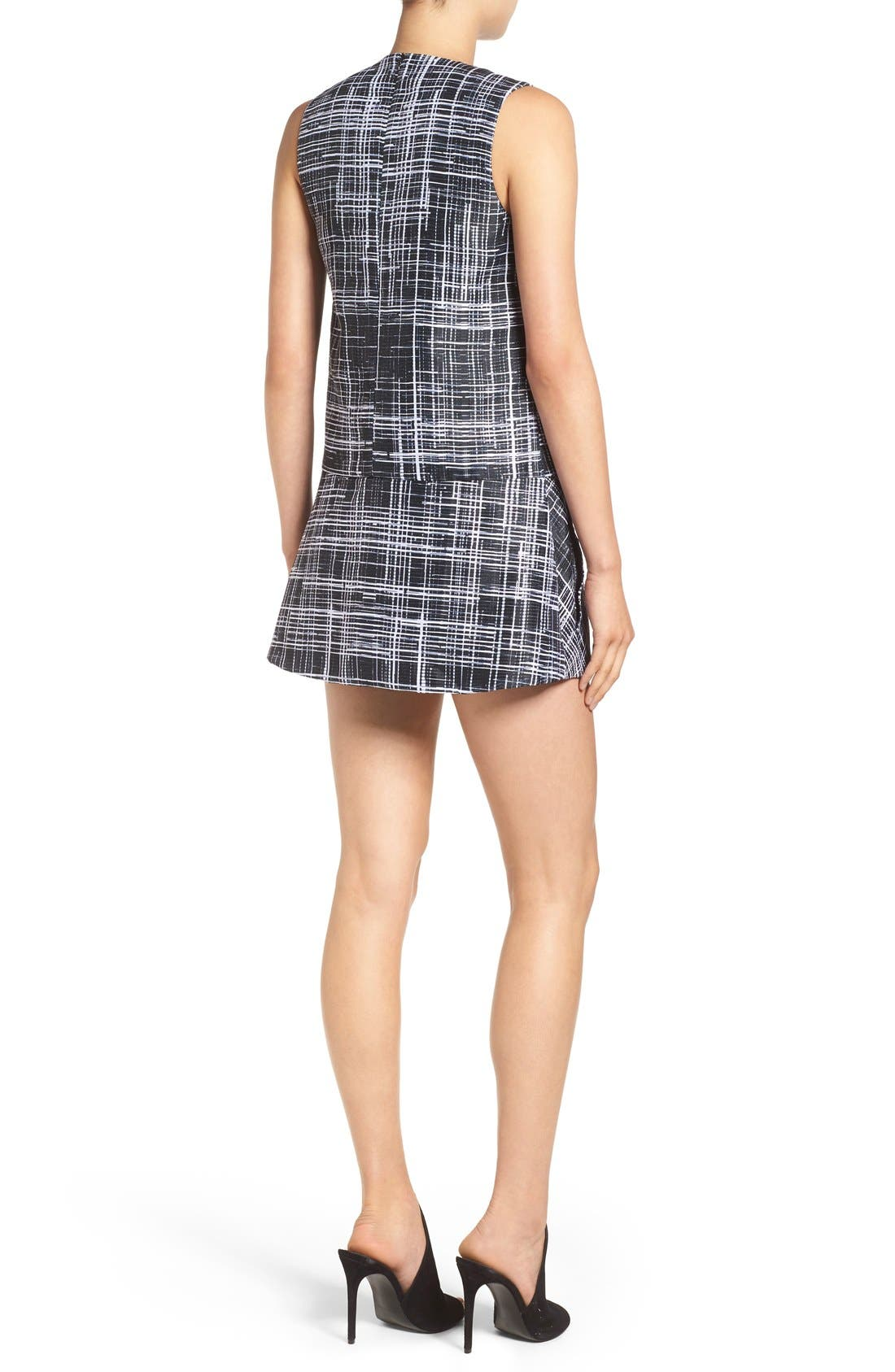 Alternate Image 2  - KENDALL + KYLIE Ziggy Graphic Minidress