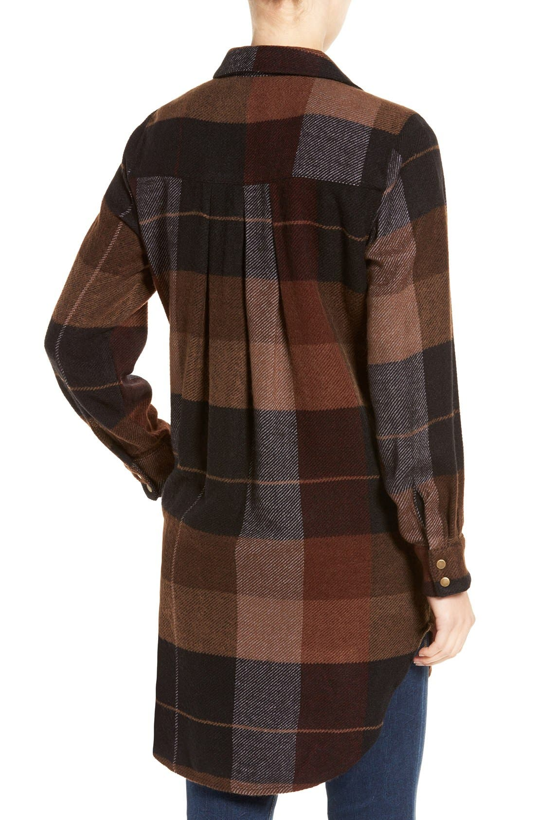 Alternate Image 2  - Dex Plaid Flannel Tunic