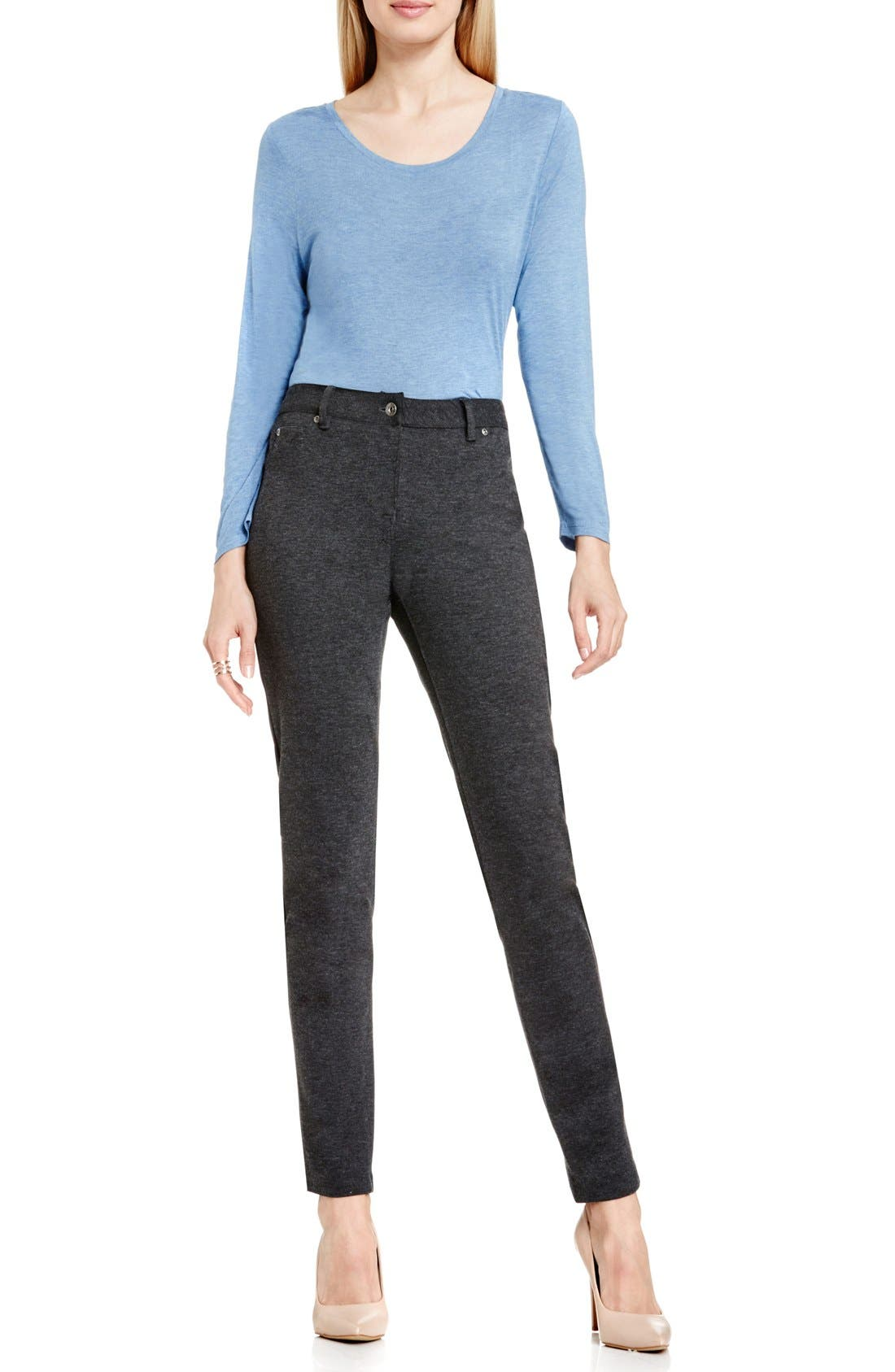 Alternate Image 2  - Two by Vince Camuto Skinny Ponte Pants (Petite)