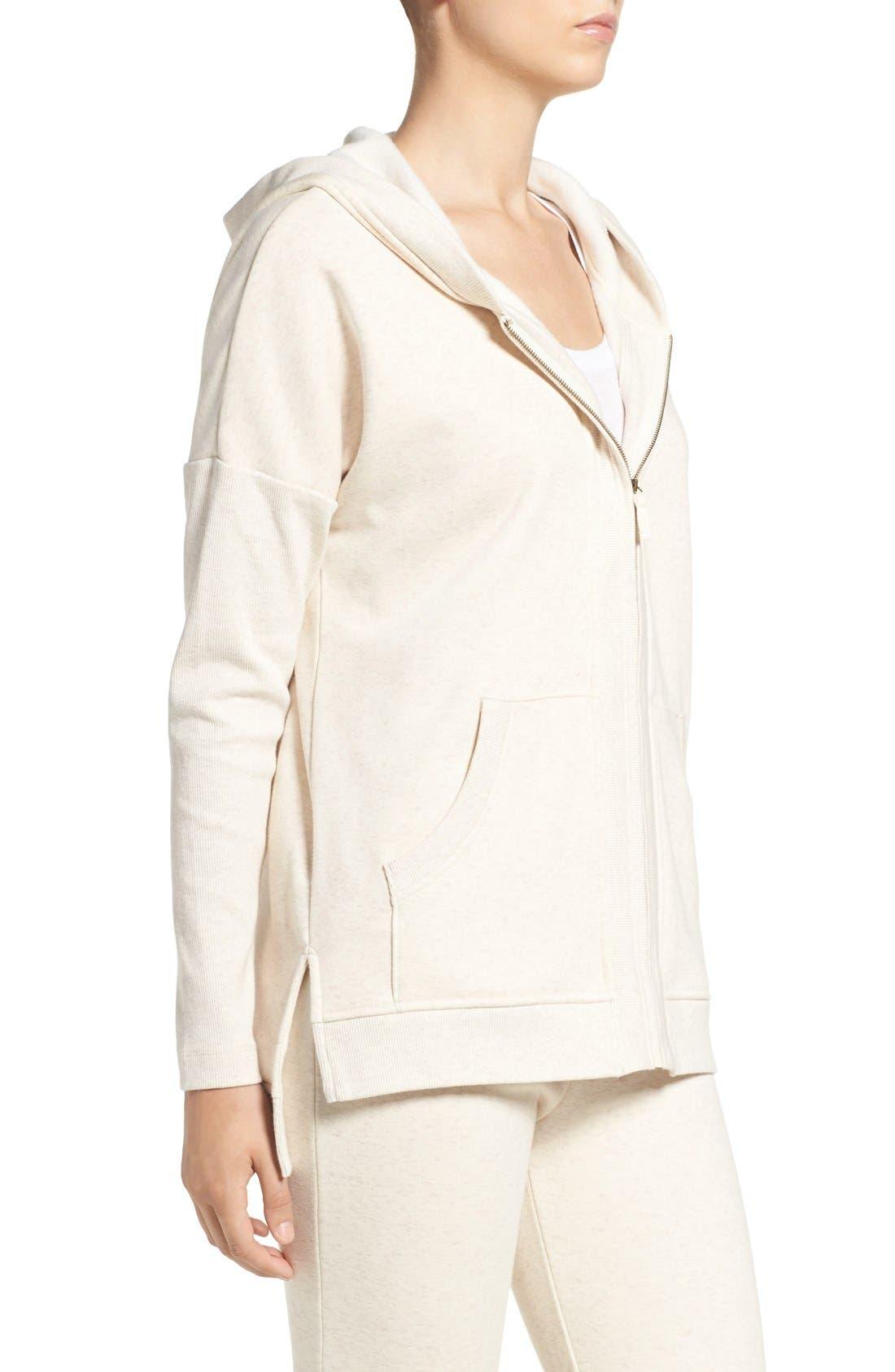 Alternate Image 3  - UGG® 'Mavis' Stretch Cotton Zip-Up Hoodie