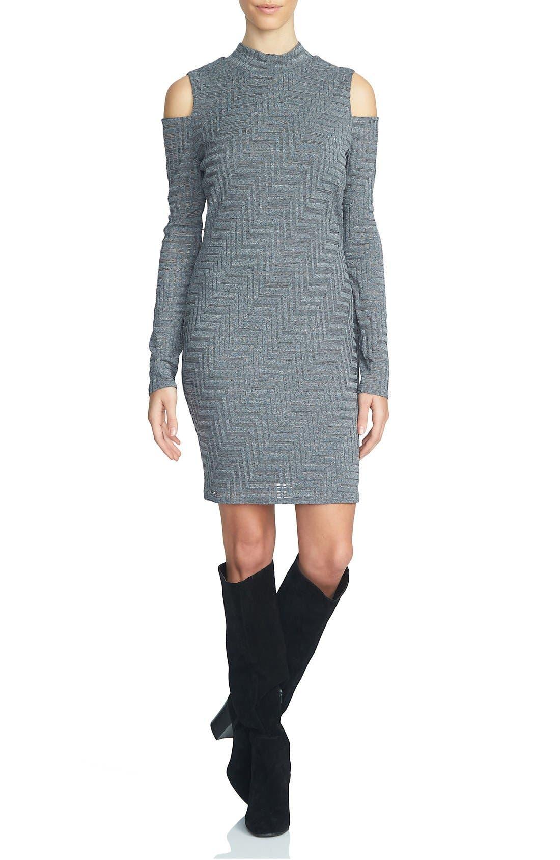 Main Image - 1.STATE Cold Shoulder Sweater Dress