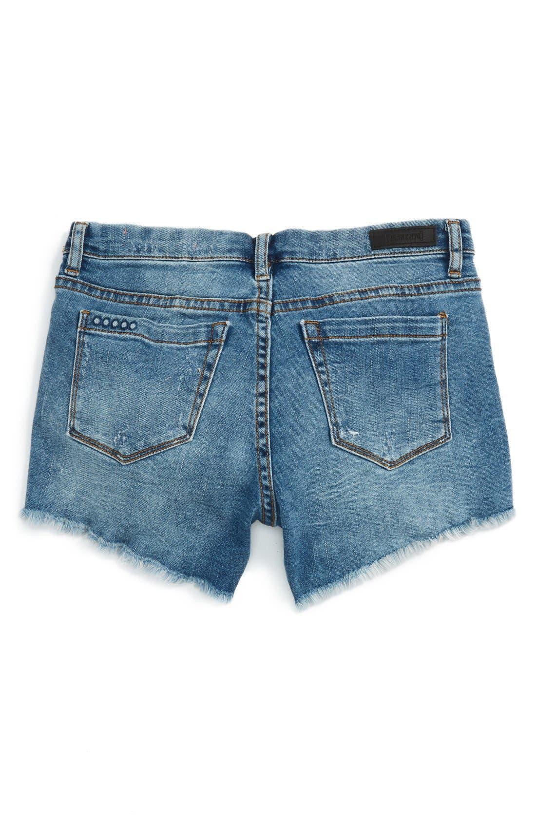 Alternate Image 2  - BLANKNYC Cutoff Denim Shorts (Big Girls)