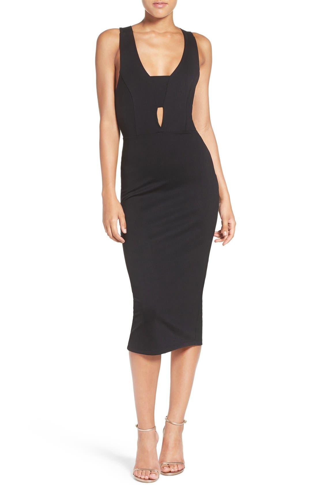 Alternate Image 4  - Fraiche by J Cutout Body-Con Midi Dress