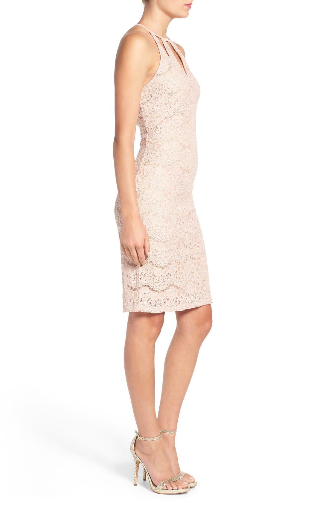 Alternate Image 3  - Love, Fire Cutout Lace Body-Con Dress