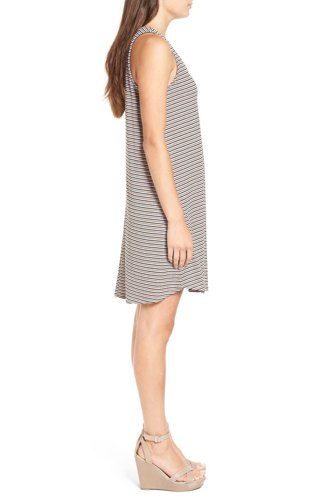Alternate Image 3  - dee elle Stripe Rib Knit Swing Dress