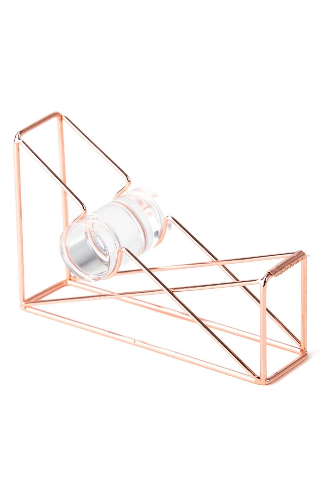 Alternate Image 1 Selected - U Brands Rose Goldtone Tape Dispenser