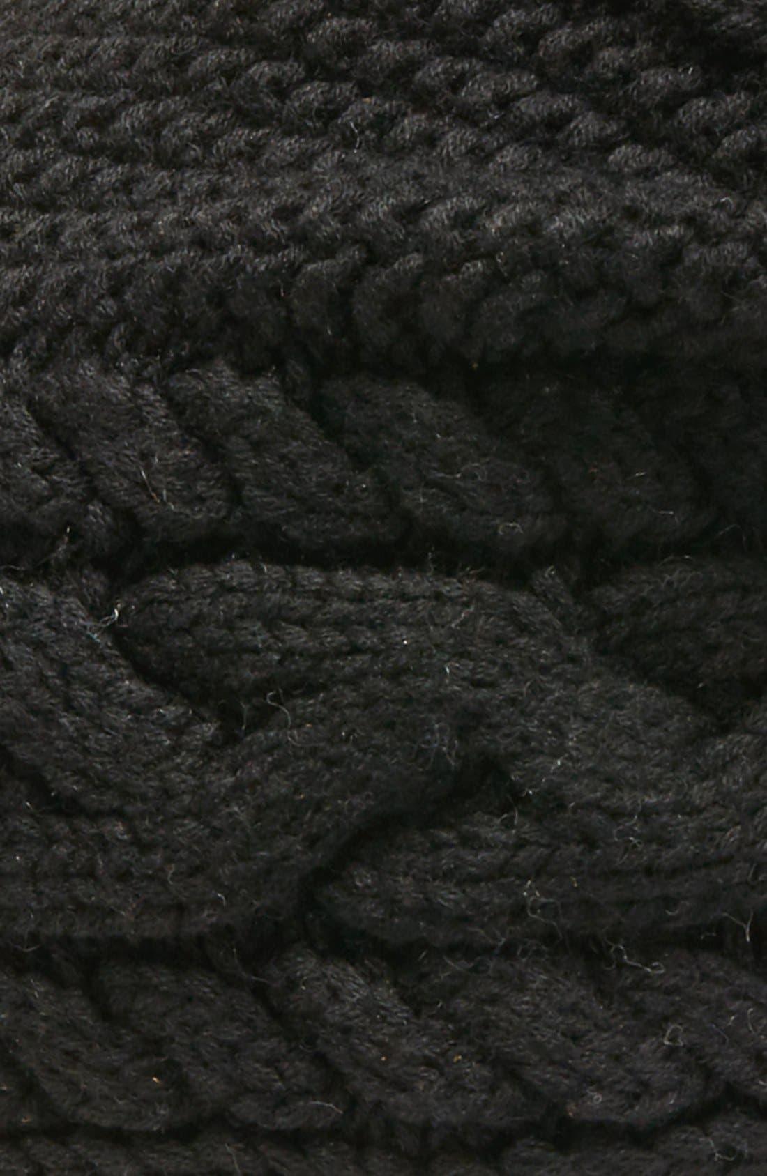 Alternate Image 2  - UGG® Cable Knit Genuine Shearling Pom Beanie