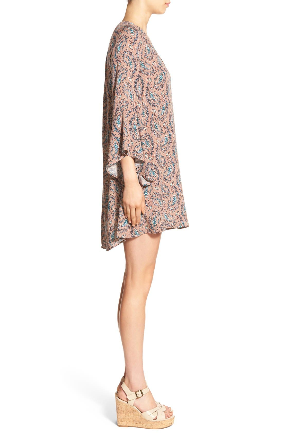 Alternate Image 3  - Lush 'Whitney' Bell Sleeve Woven Shift Dress