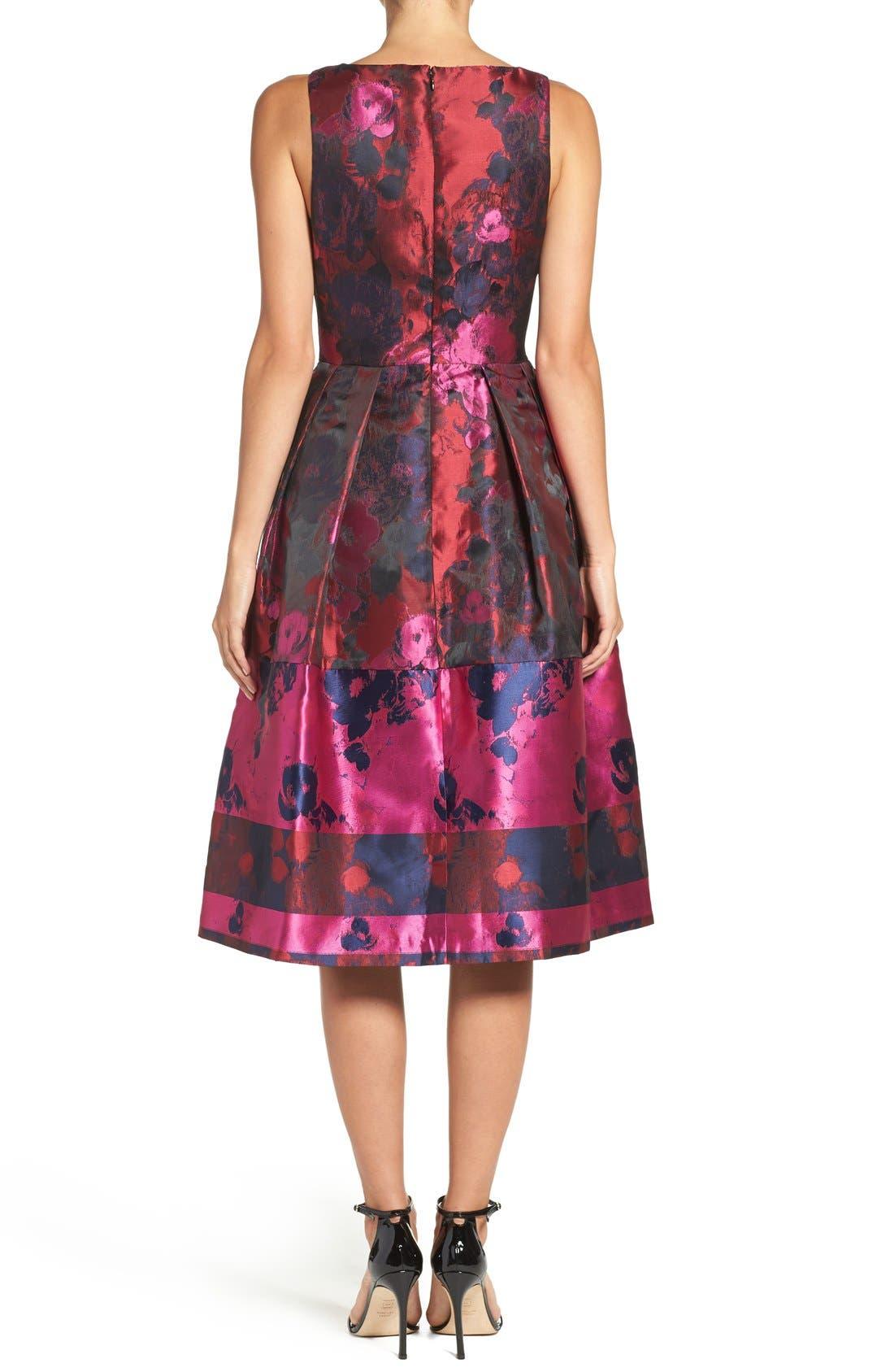 Alternate Image 2  - Ivanka Trump Floral Organza Fit & Flare Midi Dress