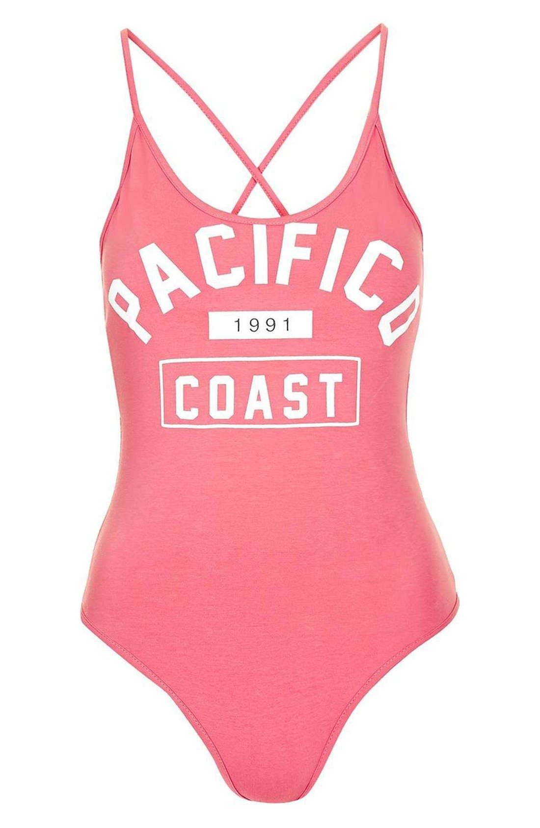 Alternate Image 3  - Topshop 'Pacifico' Strappy Bodysuit